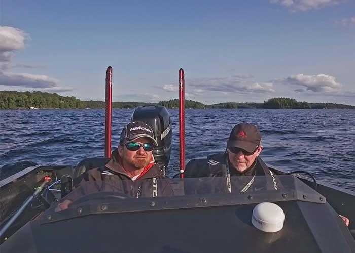 two anglers in boat