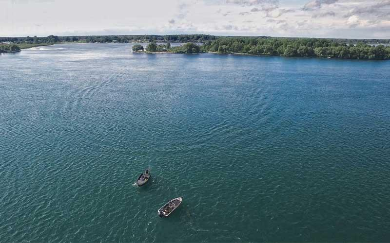 aerial view st. lawrence river