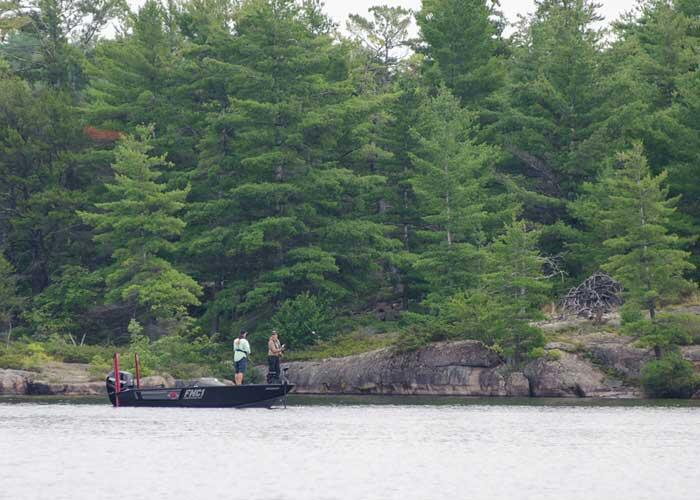 fishing upper french river for muskie