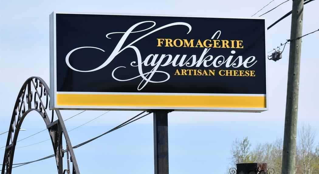 artisan cheese sign
