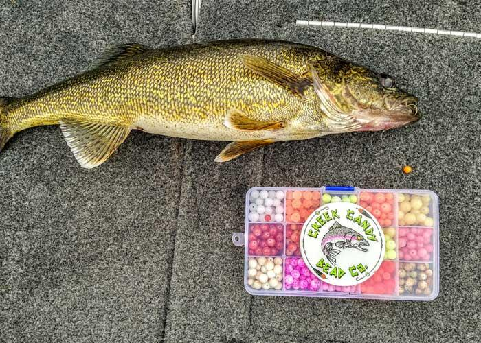 walleye with beads