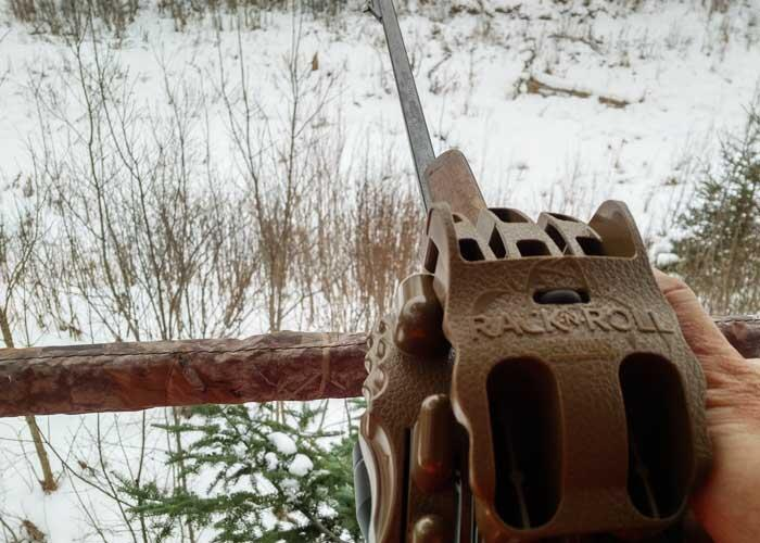 using a rack n roll for whitetail deer