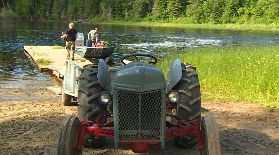 ghost river lodges tractor