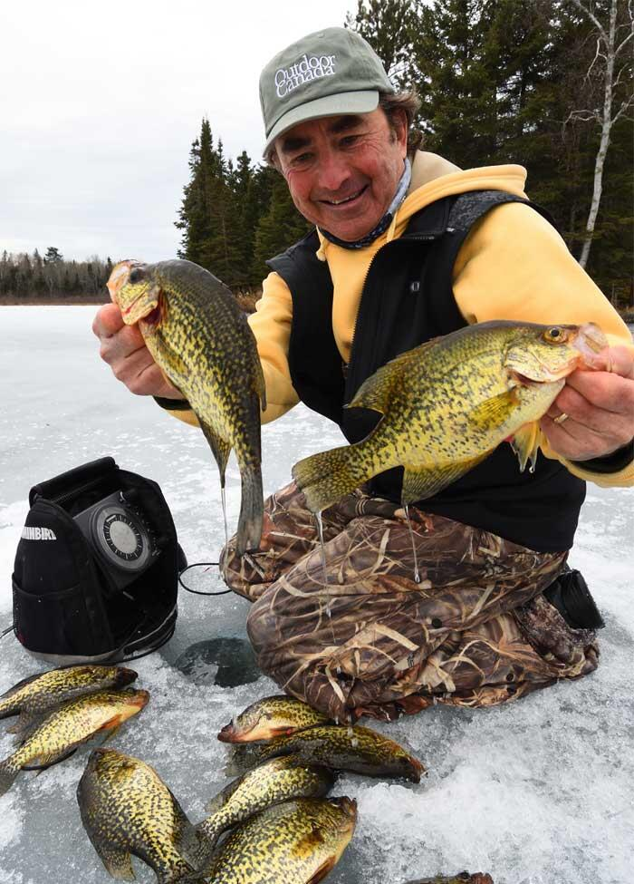 angler with crappie