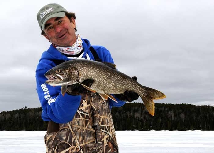 gord pyzer ice fishing trout