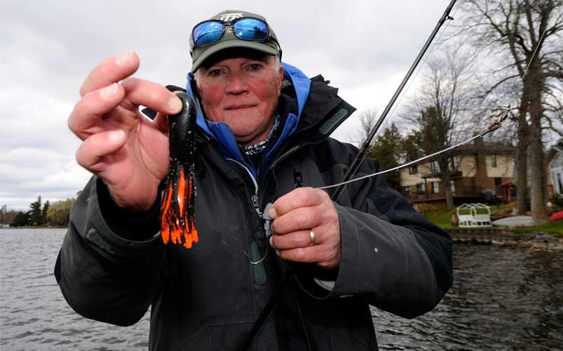 wally robins holding lure