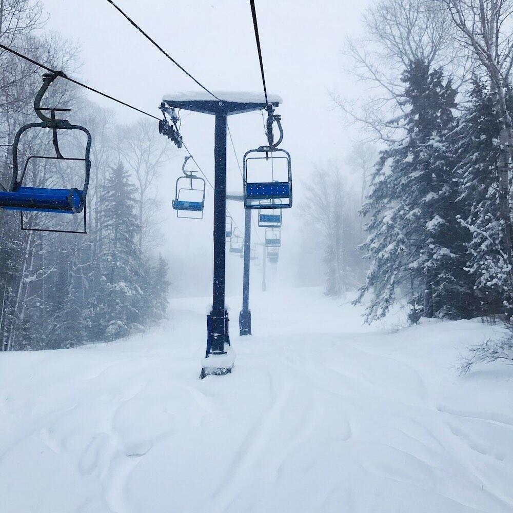 Chairlift at a ski resort