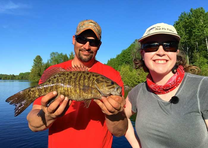 2 anglers with smallmouth bass