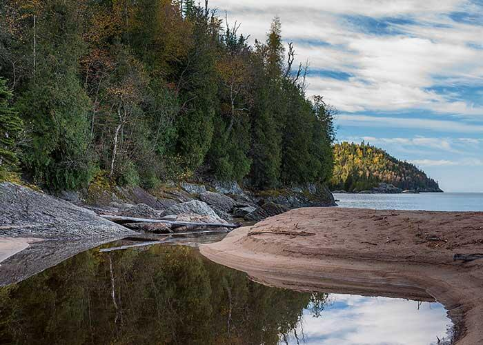 james smedley sandy beach lake superior