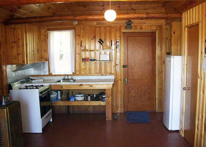 timber edge camps cabin kitchen