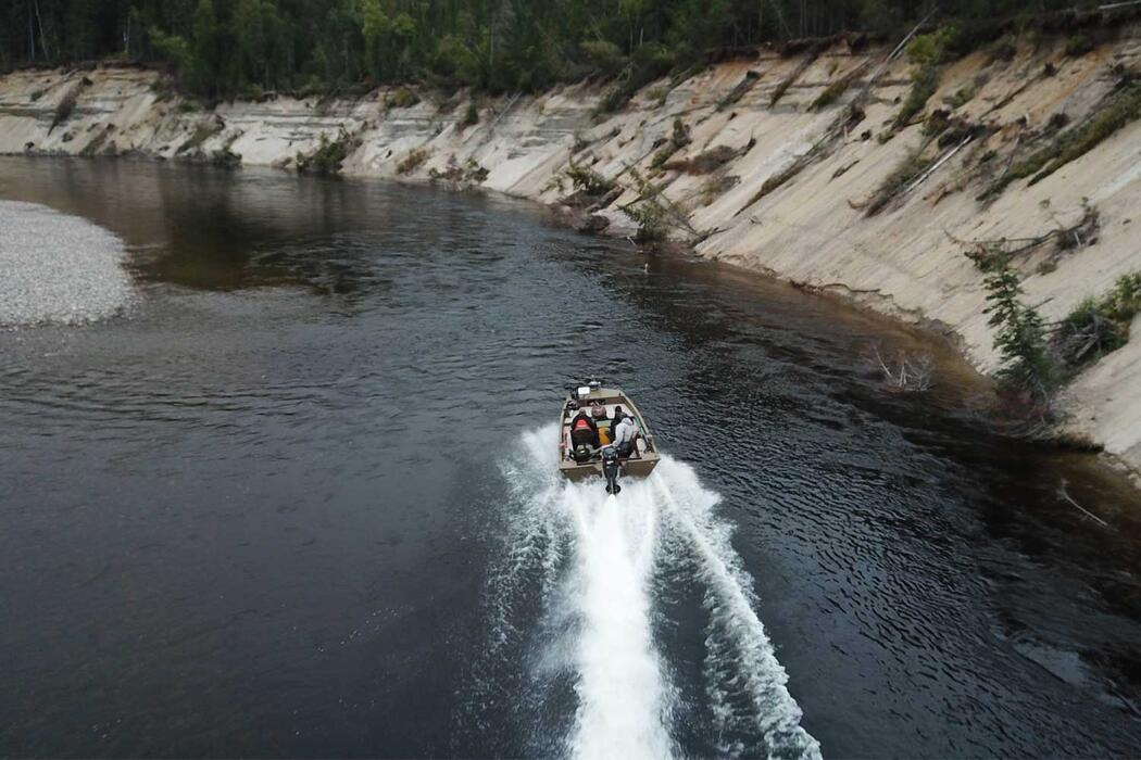 boating on the Michipicoten River Wawa Ontario
