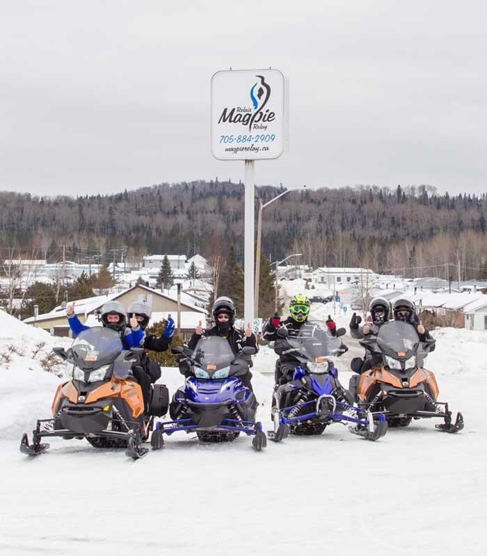 magpie relay resort sign