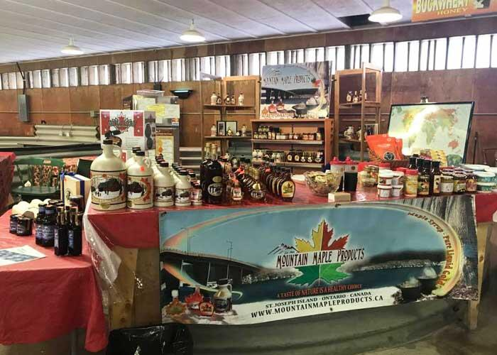 mountain maple products booth at mill market