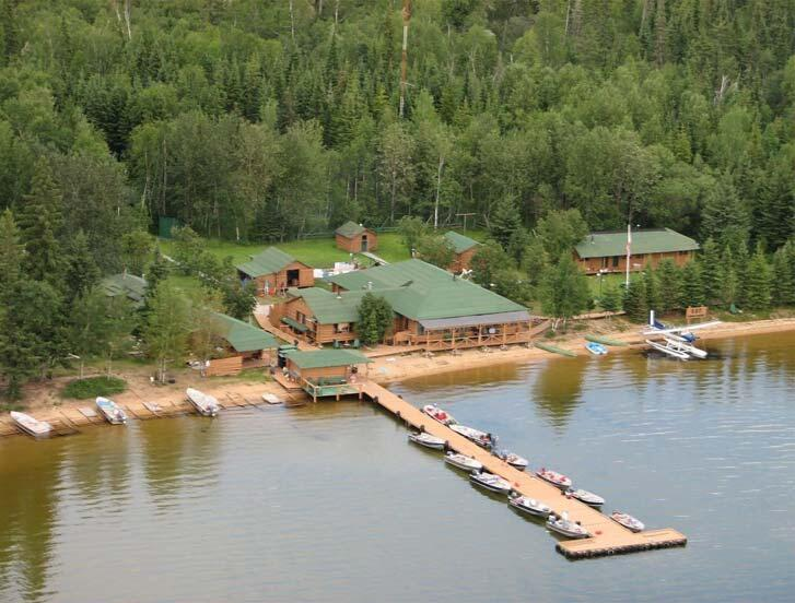 aerial view of cat island lodge