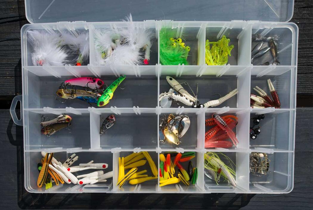 tacklebox with bait and lures