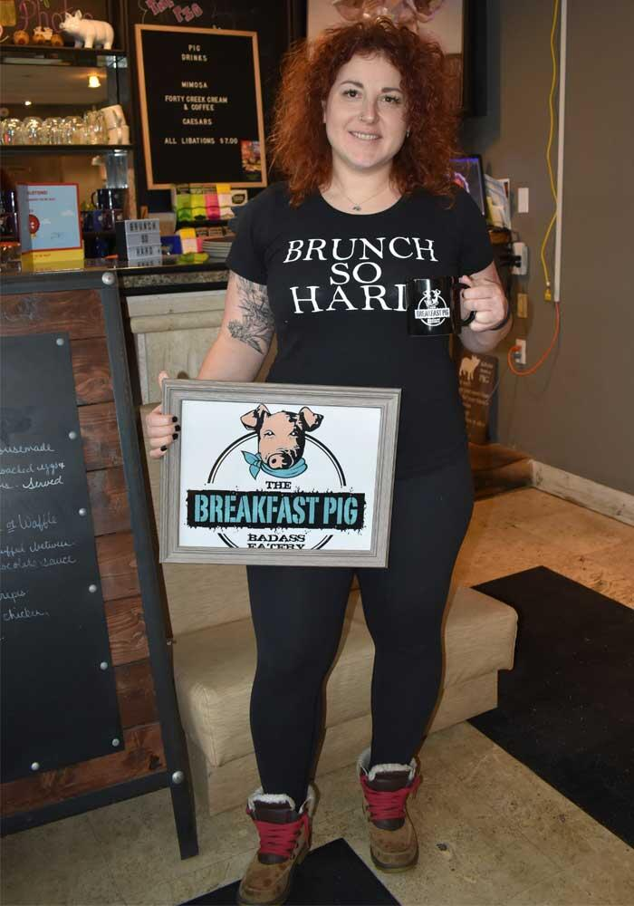 the breakfast pig owner angela caputo