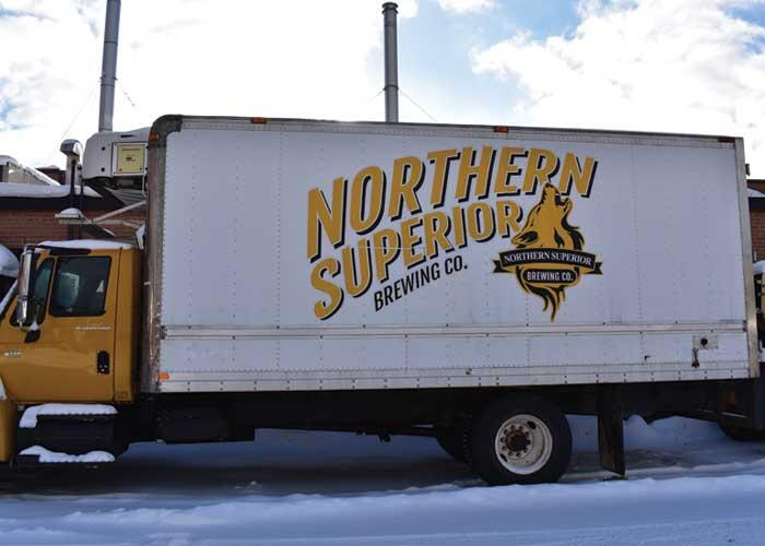northern breweries delivery truck