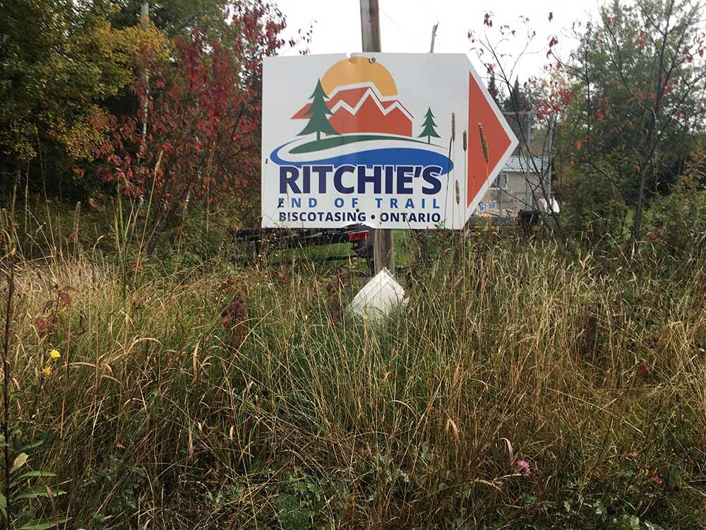 ritchie's end of trail sign
