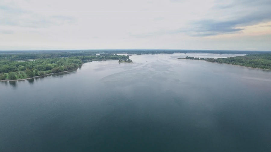 aerial view of st. lawrence river