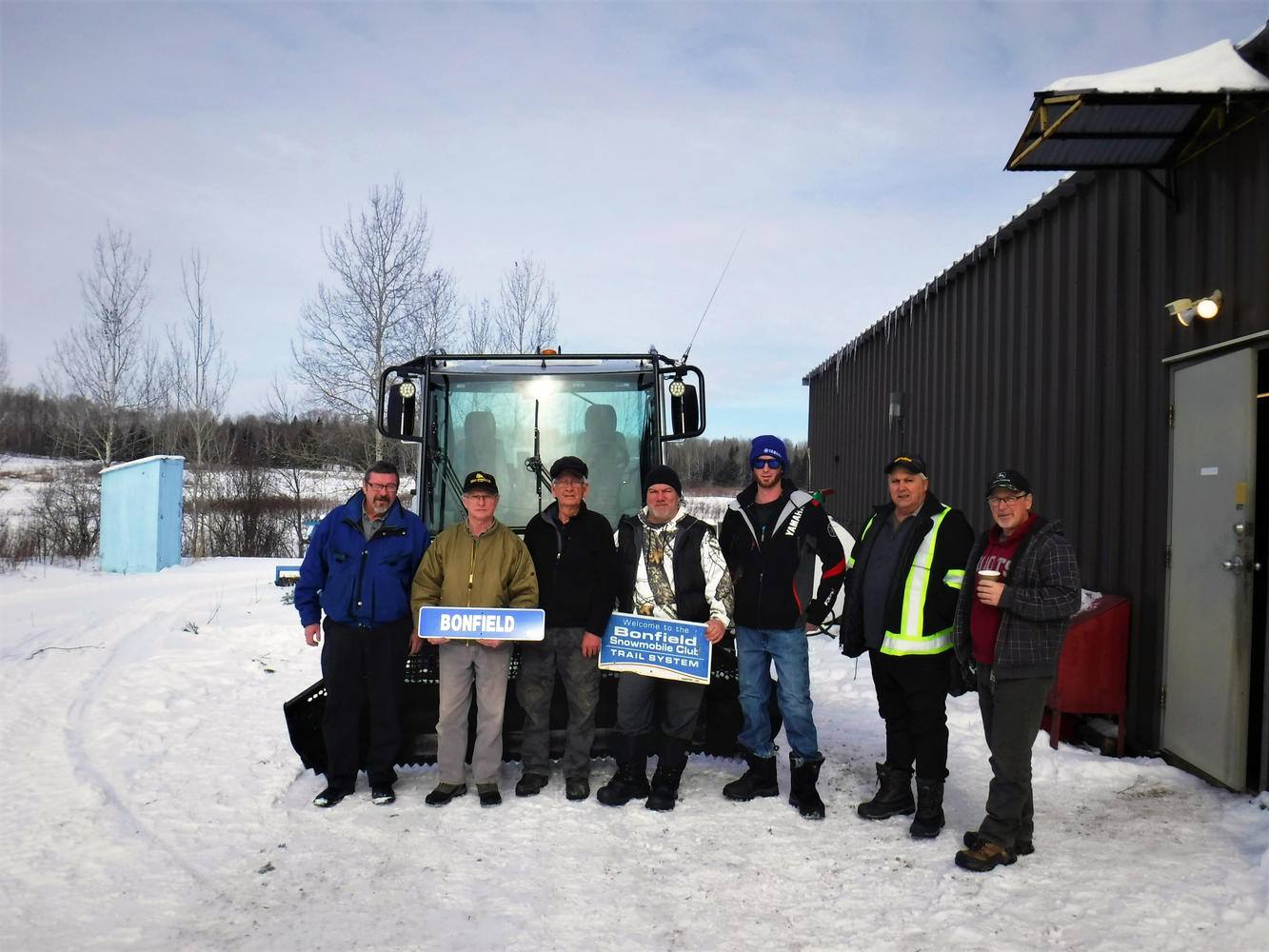 Some of the hardworking volunteers of the Bonfield Snowmobile Club