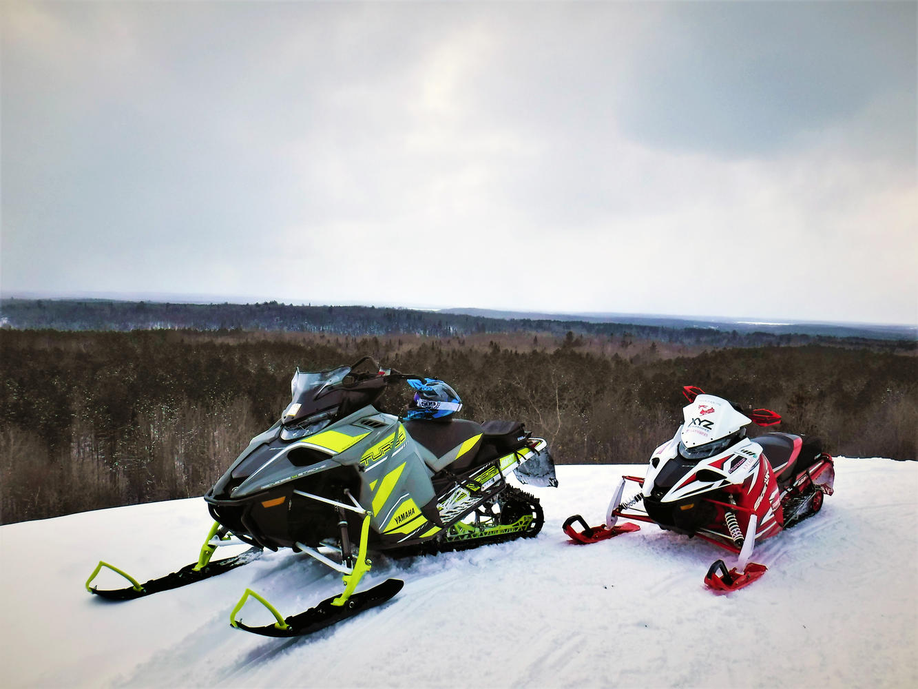 Great view from Bonfield Snowmobile Club trails