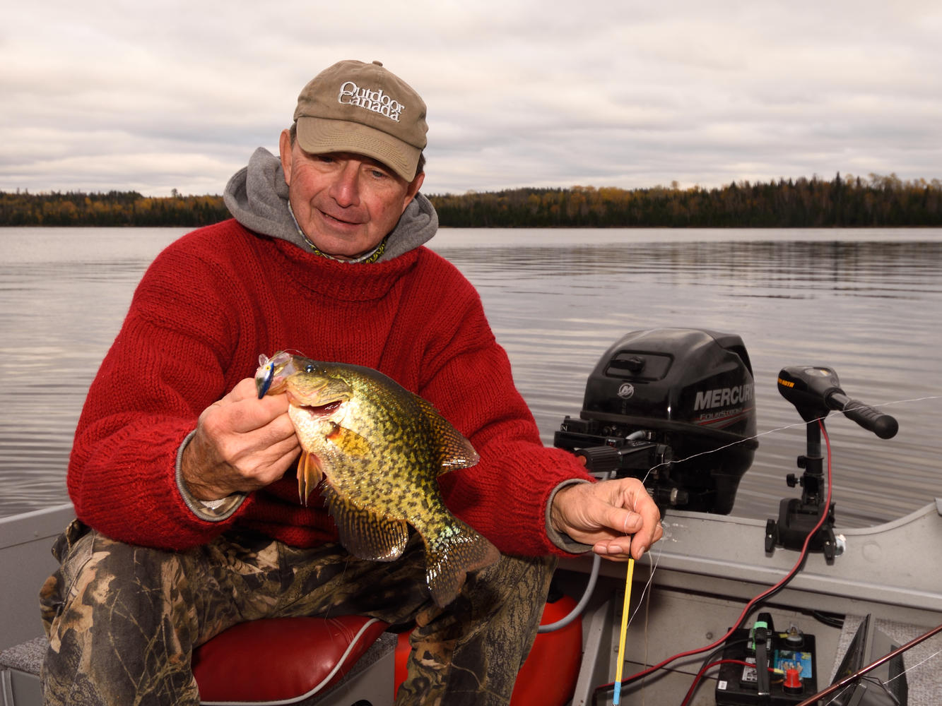 gord pyzer with a black crappie