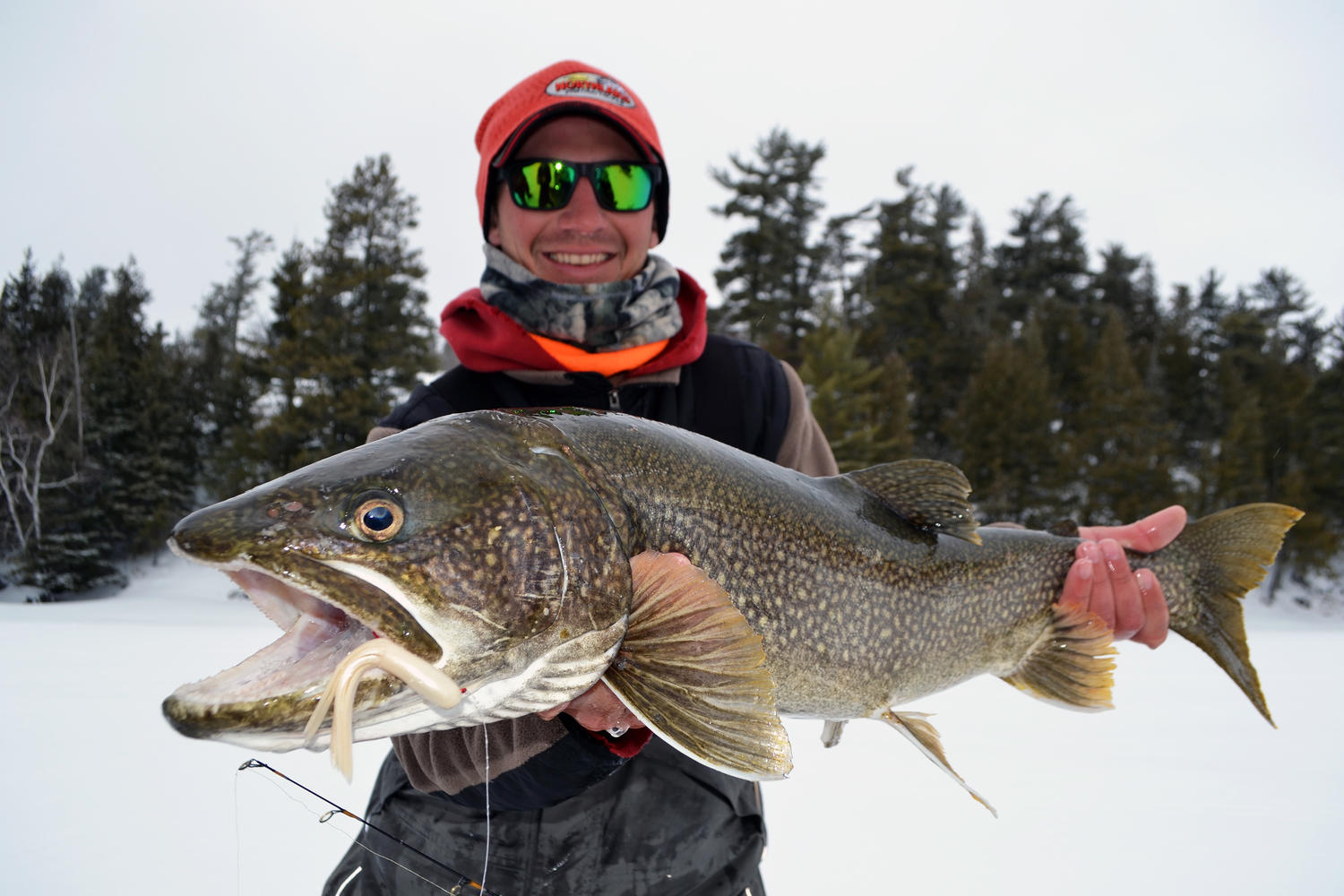 Late season ice fishing in ontario northern ontario travel for Lake trout ice fishing