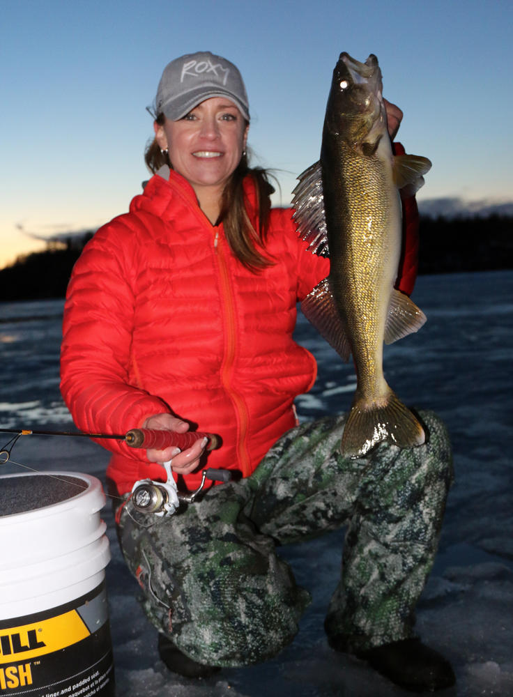 Late season walleyes for Ice fishing walleye videos