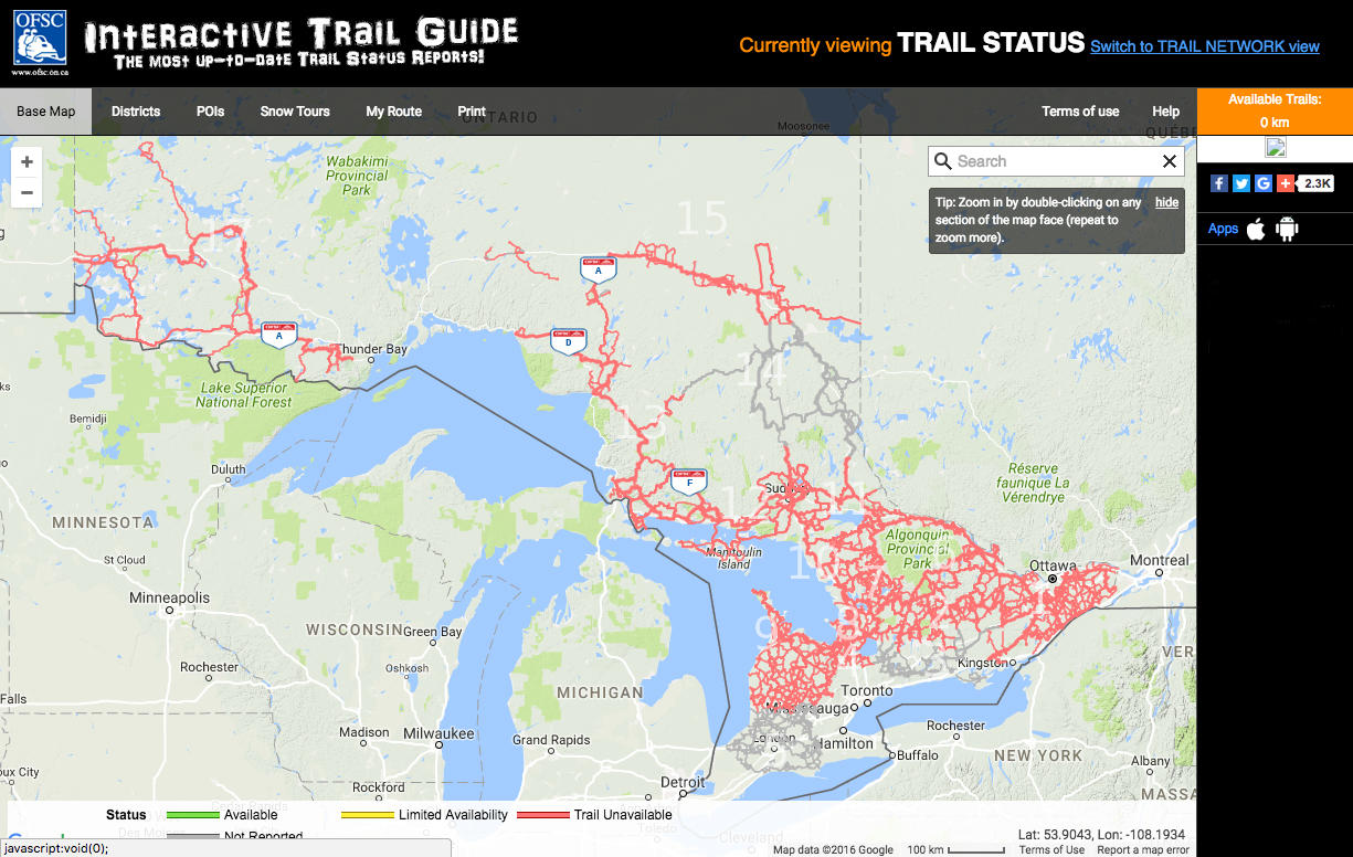 Snowmobile Trails At Your Fingertips With The Ofsc Online
