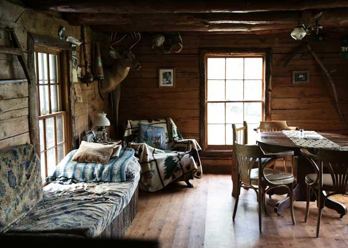 boundary waters guide service cabin interior