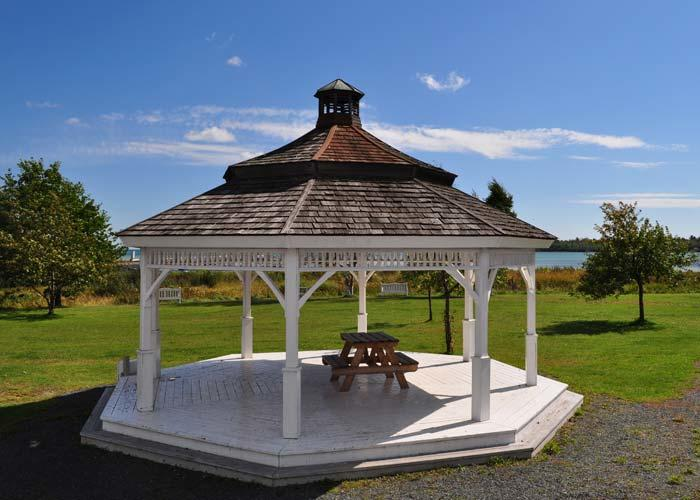 gazebo on bruce mines waterfront park