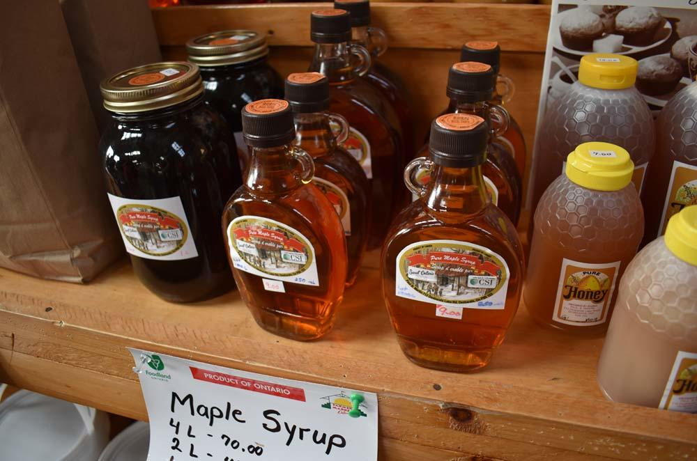 maple syrup and honey