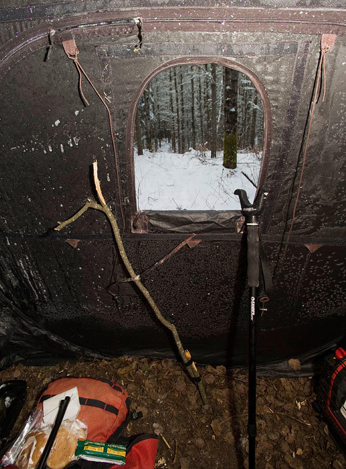 inside a ground blind