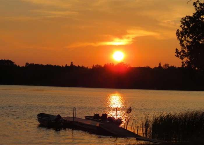 sunset on the chapleau river