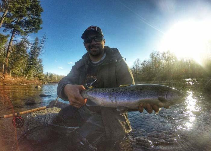 fly fishing for algoma steelhead