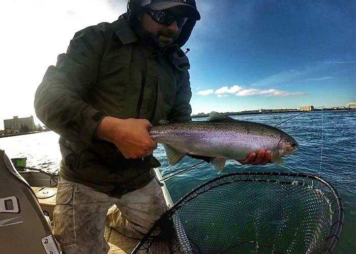 kevin king steelhead fishing st. marys river sault ste. marie