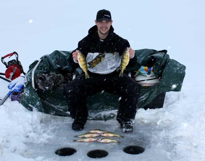 mat koprash ice fishing perch