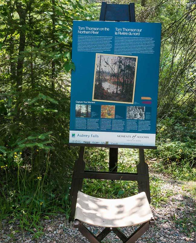 aubrey falls tom thomson interpretive panel