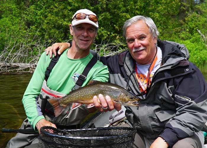 eric lund with brook trout